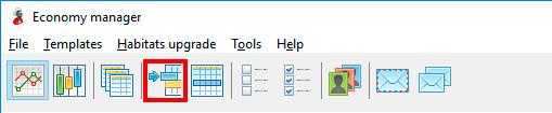 Launching of template binding window