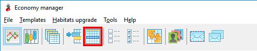 Launching of template reset window