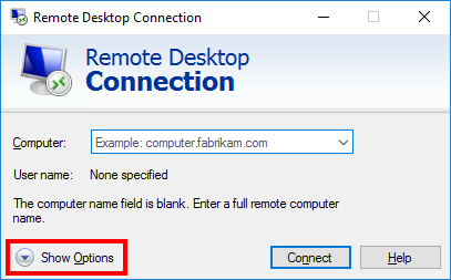 Приложение «Remote Desktop Connection»